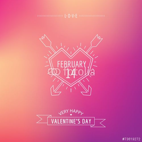 50 Wektor: Valentine's Day Card - with Love Quote - in vector