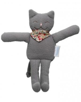 trousselier Spieluhr Katze in grauem Fleece