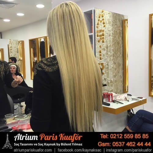 Görünmez saç kaynak 125 Gr Virgin saç kullanıldı