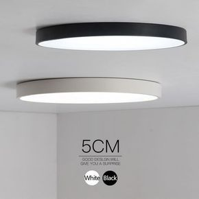 Minimalistische Zwart/Wit art moderne plafond verlichting voor slaapkamer kinderkamer Ronde vierkante led thuis indoor plafondlamp armatuur
