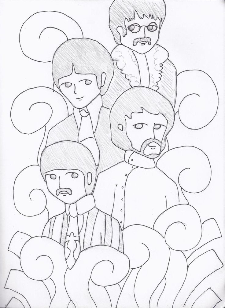 best beatles coloring book images on pinterest  the