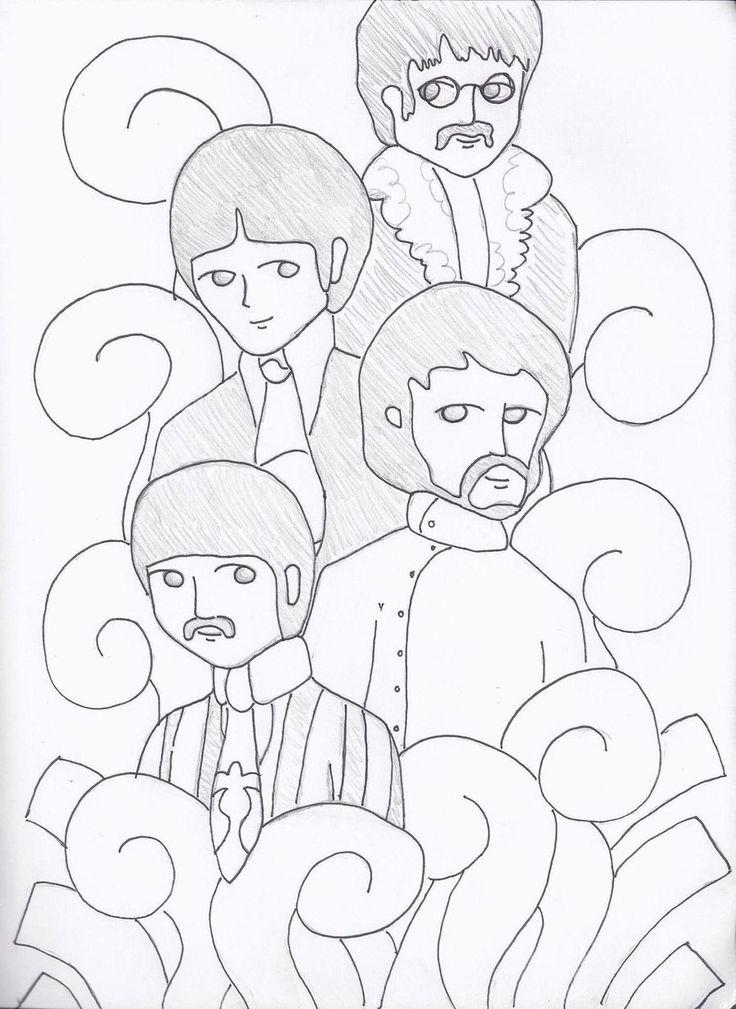 Dorable Libro De Colorear Beatles Motivo - Páginas Para Colorear ...