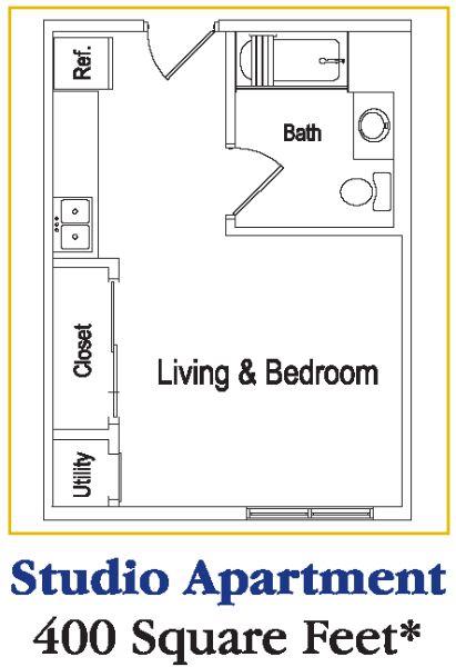 Best 25 apartment floor plans ideas on pinterest for Efficiency apartment floor plan