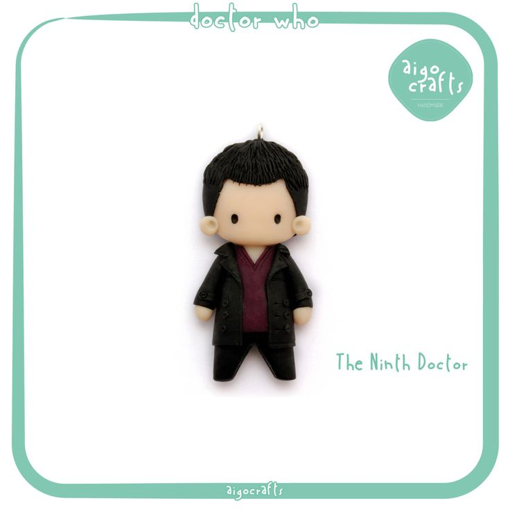 Doctor Who Polymer Clay The Ninth Doctor Christopher Eccleston Cell Phone Charm – Doctor Who Collection by AigoCrafts on Etsy https://www.etsy.com/listing/235648305/doctor-who-polymer-clay-the-ninth-doctor