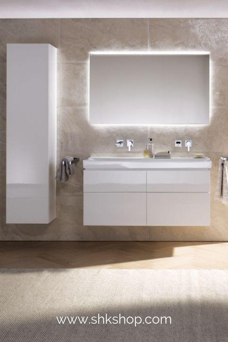 ® Waschtischplatte Waschtischkonsole für Aufsatzbecken Weiß Hochglanz neu.haus