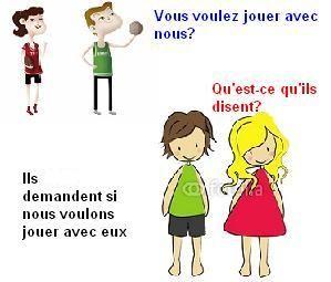 DISCOURS INDIRECT :: Le français
