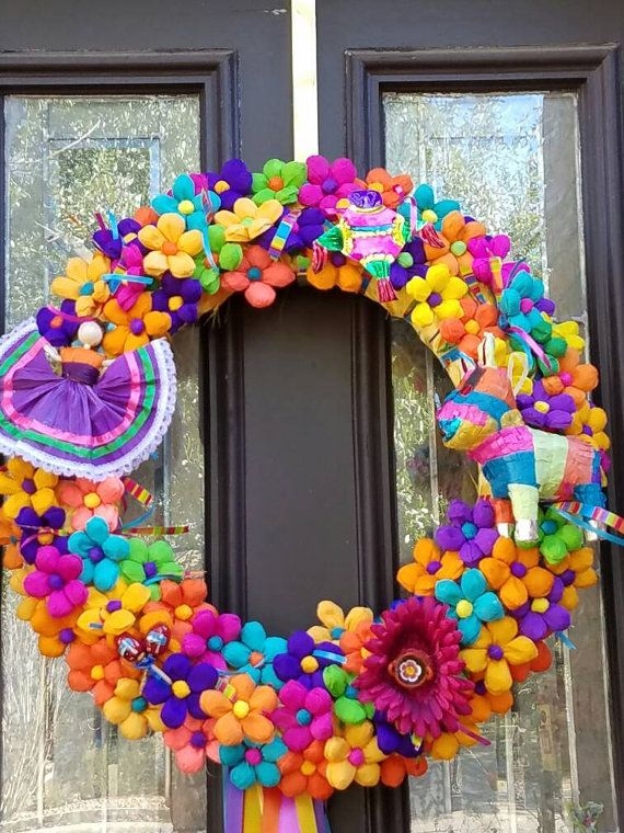 Fiesta Wreath San Antonio Style 2017 No shpping if by andallthat