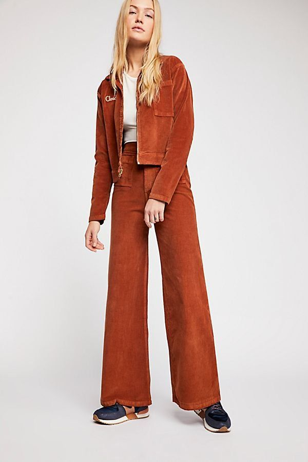 7f85e5bcde6 Cloud Nine Postal Suit - Burnt Orange Cord Suit with Back Jacket Graphic -  Cool Women s Suits