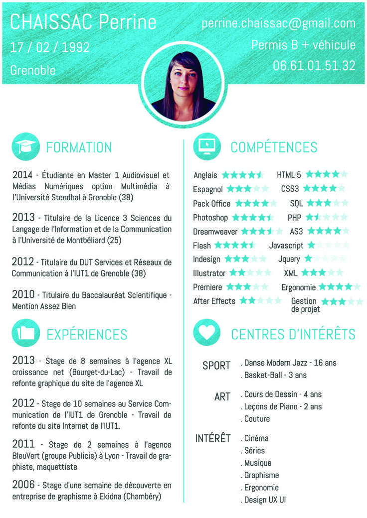 59 best cv examples images on pinterest