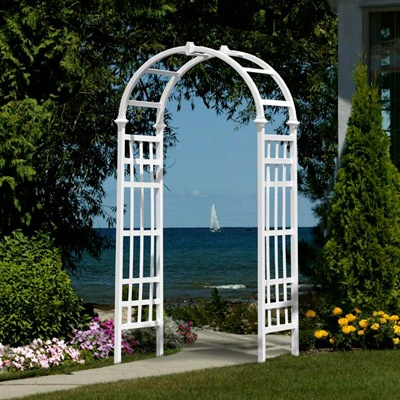 McCarthy Tents & Events- Rochester.   White Wedding Arch