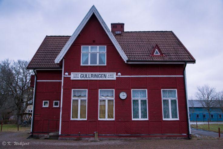 Tågstationen i Gullringen.  Trainstation Gullringen.