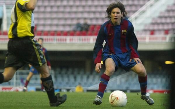 March 7, 2003  Leo Messi, age 16, makes his debut for Barcelona B.
