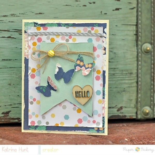 Hello Card by Katrina Hunt by cardipaws @Two Peas in a Bucket