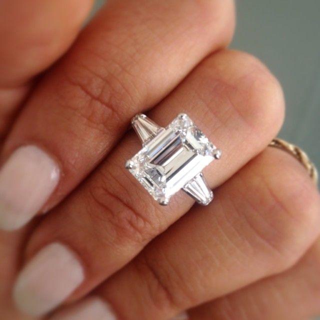5 Carat Emerald Cut Engagement Ring. Stunning & classy.