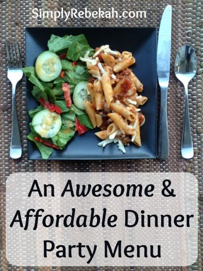 17 best ideas about easy dinner party menu on pinterest for Dinner party menus and recipes