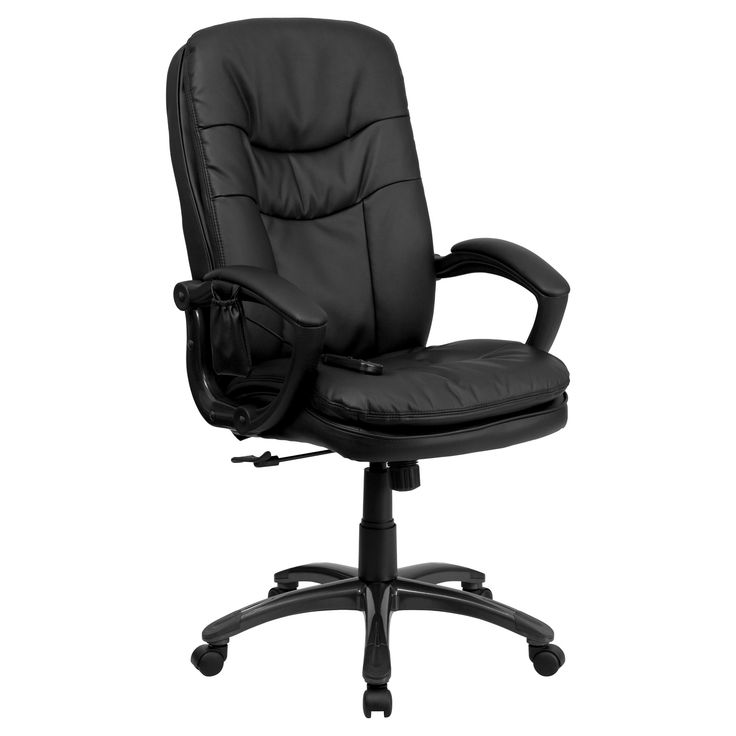 Massaging Executive Swivel Office Chair Black Leather - Flash Furniture