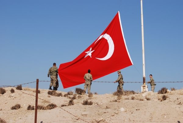 A Turkish flag being raised #flags #countries