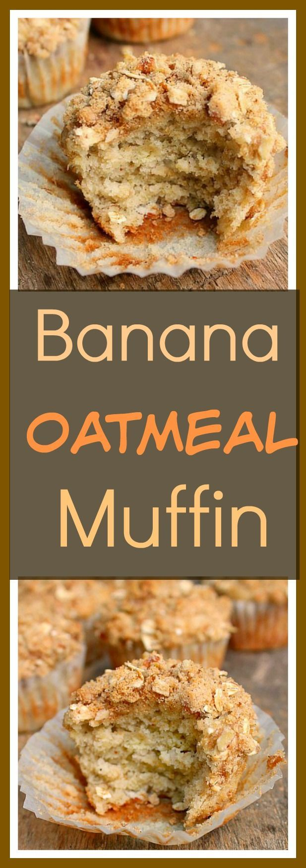 Banana Oatmeal Muffin with Pecan Brown Sugar Topping....the best banana muffin I've ever made!