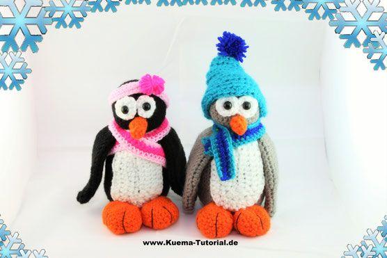 Pinguine Plitsch und Platsch - Häkelanleitung