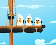 Captain Clumsy's VERY Angry (and Dangerous) Birds :)  http://cuteattack.com/games/