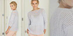 Пуловер из тонкого мохера спицами с описанием