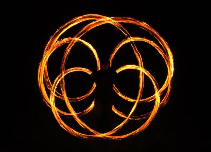 noc, kvetina, plameň, oheň, kruh, horieť