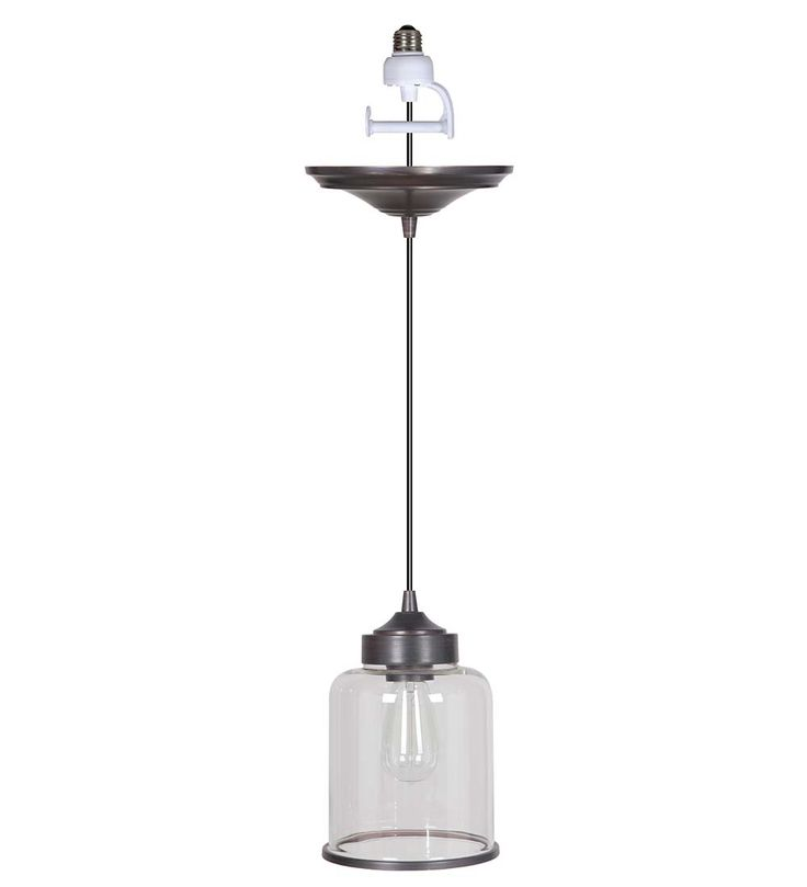 Screw-In Cylindrical Pendant Light | Kitchen Lighting.  Easily convert recessed pot light to a pendant light.