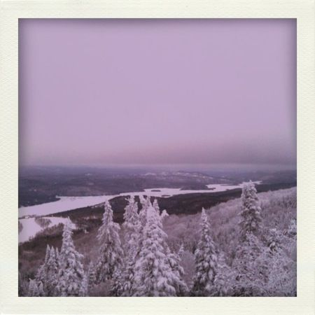 From the mountaintops.    Mont-Tremblant, Quebec    By LEITH CLARK    Nineteenth of January 2012