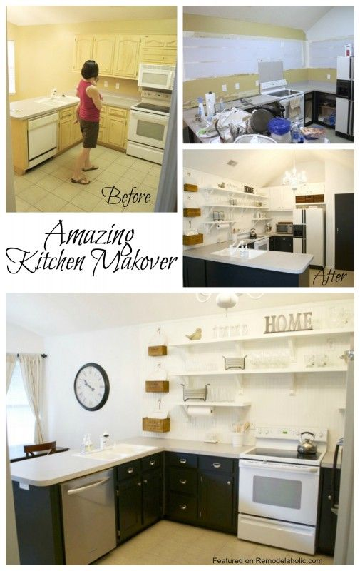 Great kitchen update on a budget! #kitchen #makeover #DIY