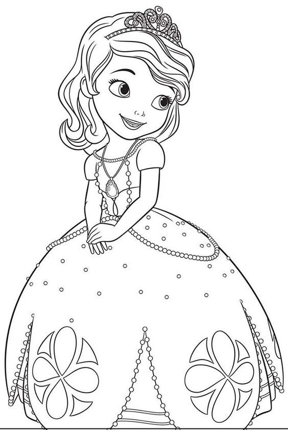 Princesa Sofía para colorear | Free Coloring Pages | Pinterest