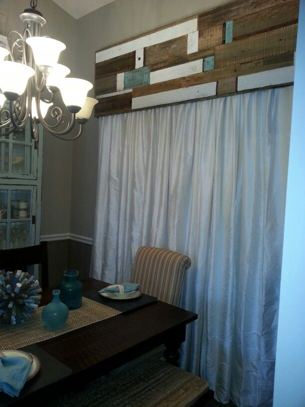 Reclaimed Wood Valance Window Treatments Pinterest