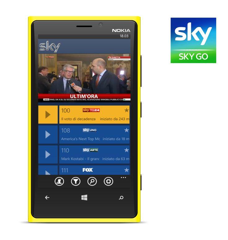 Sky Go per Windows Phone ufficialmente disponibile