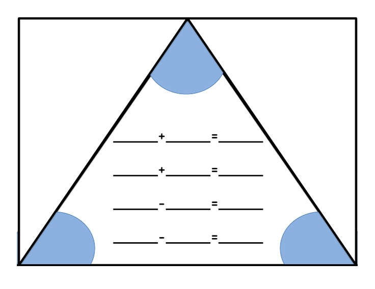 Fact Triangles Multiplication And Division Worksheets & number ...