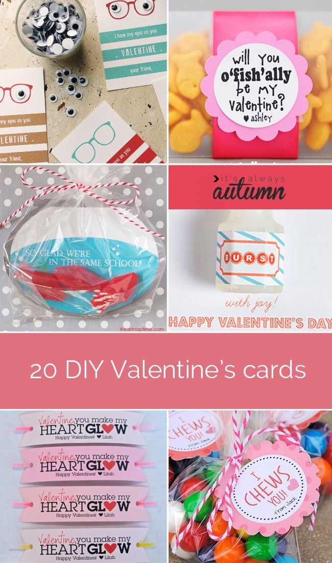 20 BEST DIY VALENTINE'S CARDS | looking for some awesome #DIY #Valentine's #Day #cards you can make with your kids? Check out these great ideas.