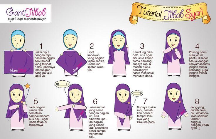 Tutorial jilbab syar'i :) #jilbab #Syari