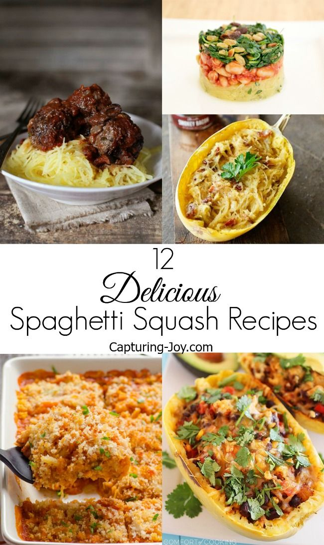 Best Spaghetti Squash Recipes, quick and easy dinner ideas.