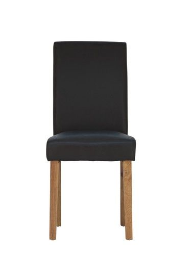 Black dining Chair, Faux leather dining chair, black faux leather dining chair, dining chair