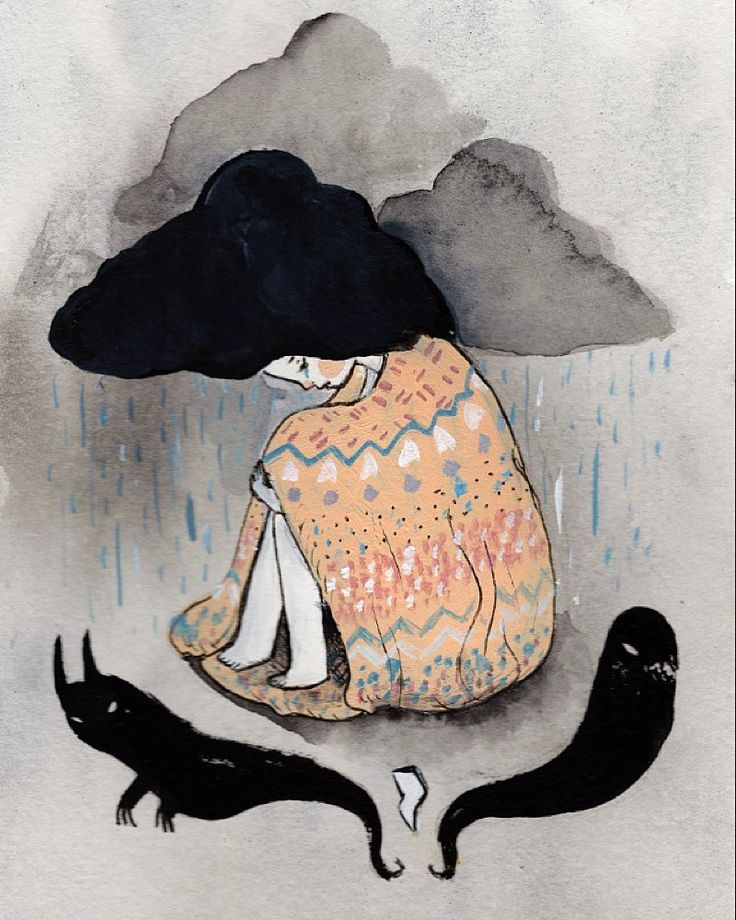 Raincloud Sometimes I paint to try to understand my depression sometimes because I think something's cute and sometimes to try to make people happy or capture a feeling. I like to carve woodblocks because it's soothing and I love printmaking for the process and excitement of pulling prints. I love managing my etsy shop and making things that go out into the real world even though sometimes I'm really terrible at being a business person. I don't have a perfectly curated instagram I like to…