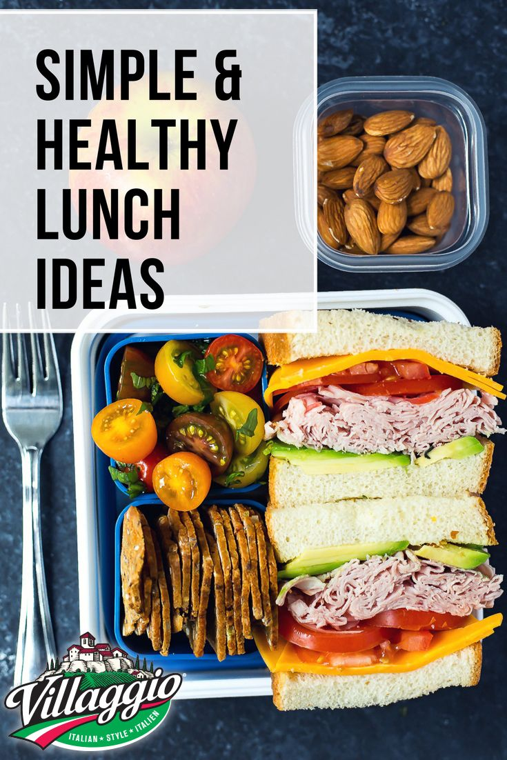 Having a healthy lunch doesn't have to be complicated with these simple recipe ideas!