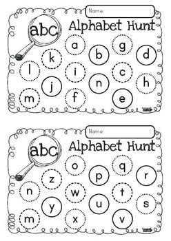 Playing games is the best way to learn - Alphabet Hunt FREEBIE