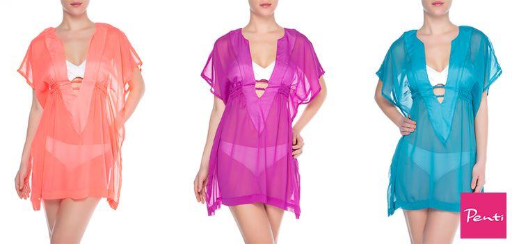 Yazın modanın kalbi plajlarda atar! Bikininize uygun renk renk plaj kaftanları #Neomarin Penti'de.