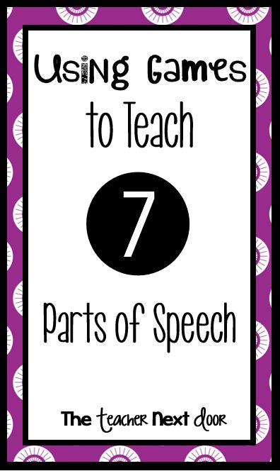 Fun ways to teach and to reinforce parts of speech using free games in your classroom