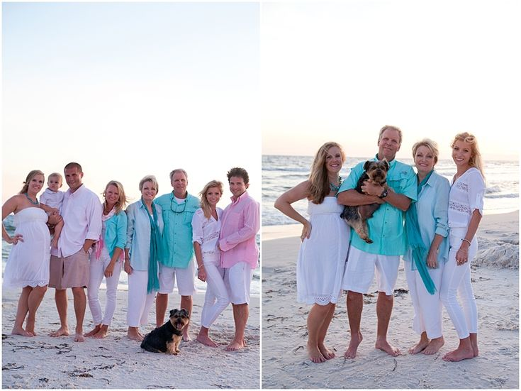 family beach outfits  ~Emily Dean Photography  What-to-wear large families