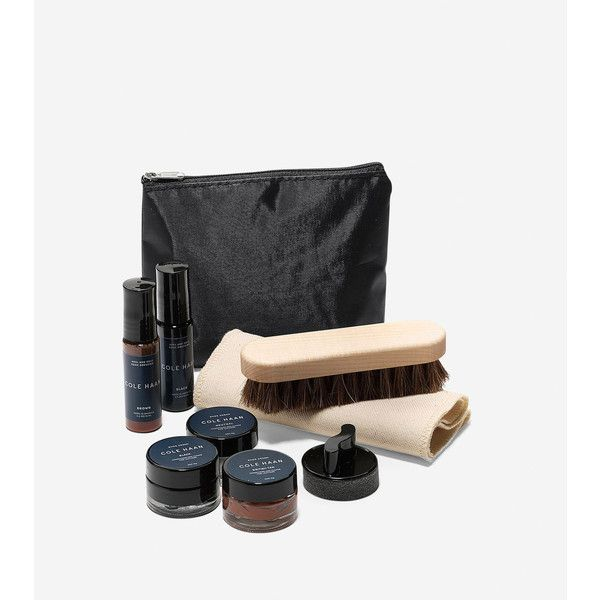 Cole Haan Mens Economy Travel Kit ($25) ❤ liked on Polyvore featuring men's fashion, men's grooming, neutral, mens hair brush and mens grooming