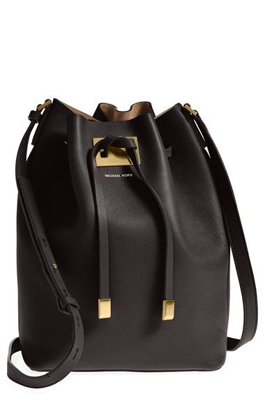Michael Kors 'Large Miranda' Leather Bucket Bag available at #Nordstrom