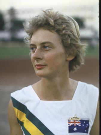 Betty Cuthbert of Australia. The only athlete, male or female, to be Olympic Champion in the 100 metres (1956), 200 metres (1956) and 400 metres (1964).