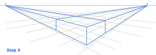 Horizon Line Art Definition : Two point perspective vanishing points on the