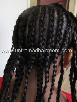Easy Protective Cornrow Style For Kids