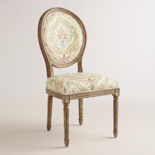 One of my favorite discoveries at WorldMarket.com: Ogee Paisley Paige Round Back Dining Chairs, Set of 2