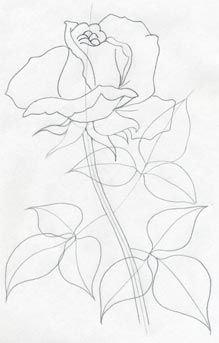 How To Draw a Rose - very easy and simple!